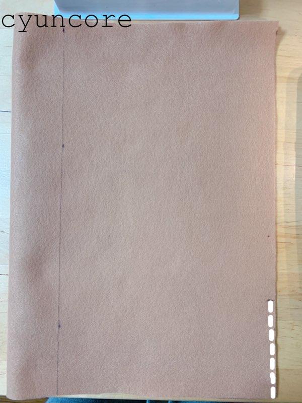 フェルトで作るトナカイの衣装②ハーフパンツを作る