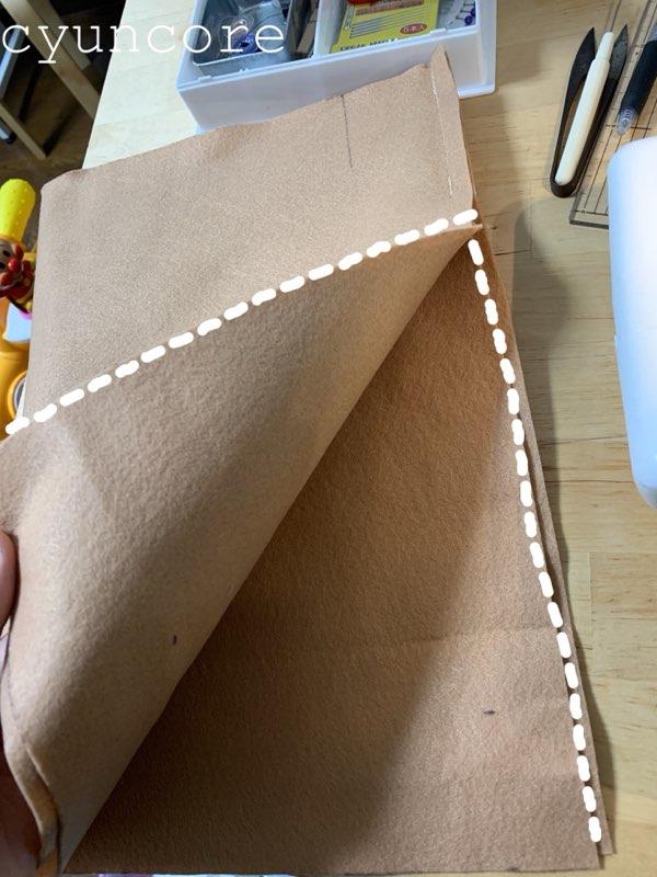 フェルトで作るトナカイの衣装②ハーフパンツを作る-2