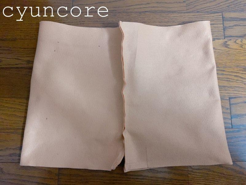 フェルトで作るトナカイの衣装②ハーフパンツを作る-3