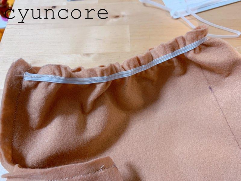 フェルトで作るトナカイの衣装②ハーフパンツを作る-4