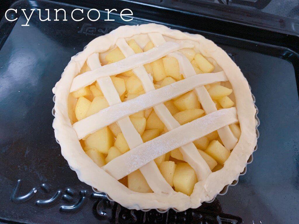 簡単アップルパイの作り方⑥オーブンで焼いたら完成!