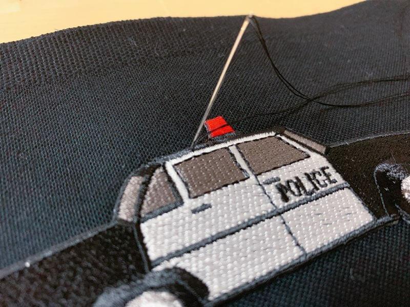 通園バッグの作り方②ワッペンを縫い付ける-2