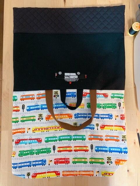 通園バッグの作り方⑥表地と裏地を縫い合わせる-4
