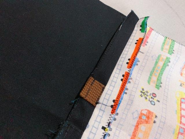 通園バッグの作り方⑥表地と裏地を縫い合わせる-2