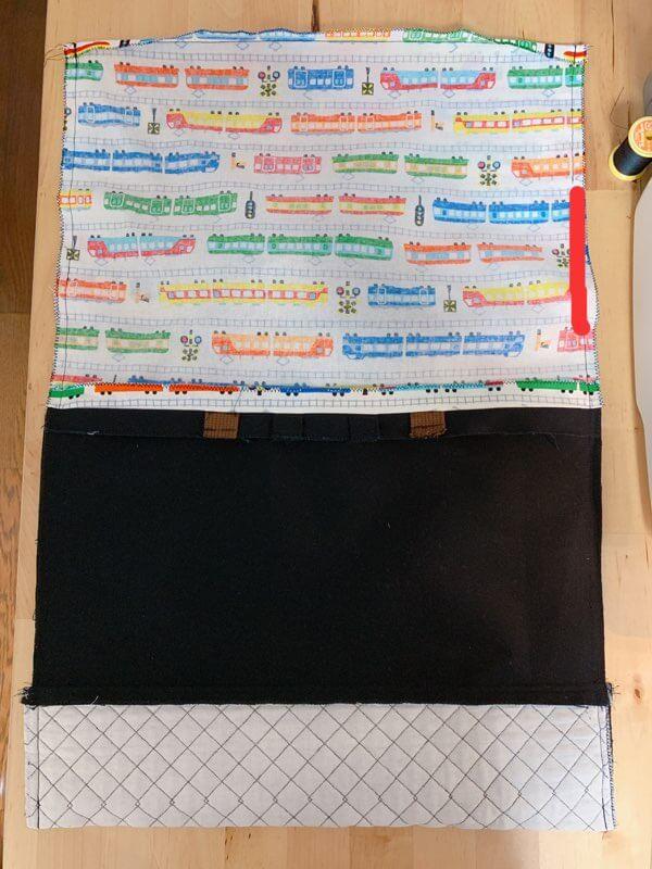 通園バッグの作り方⑥表地と裏地を縫い合わせる-3