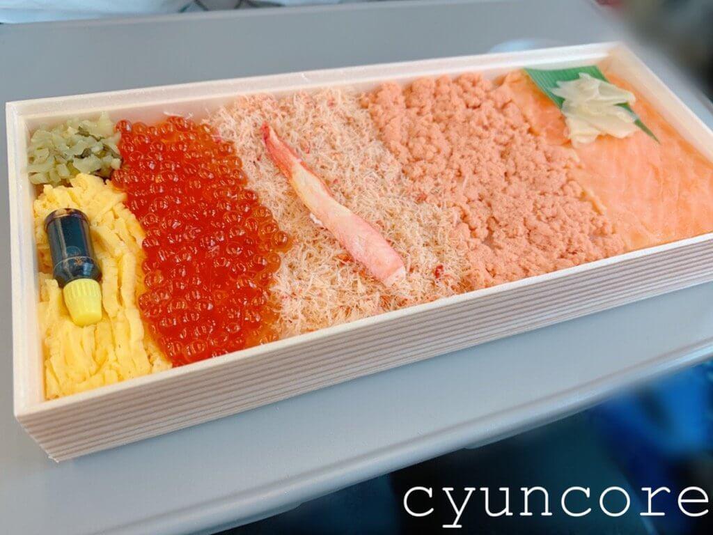 電車内の暇つぶし方法⑤【12:30】車内に戻ってお弁当タイム♪