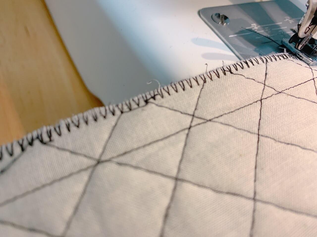 通園バッグの作り方③表地を作る-2