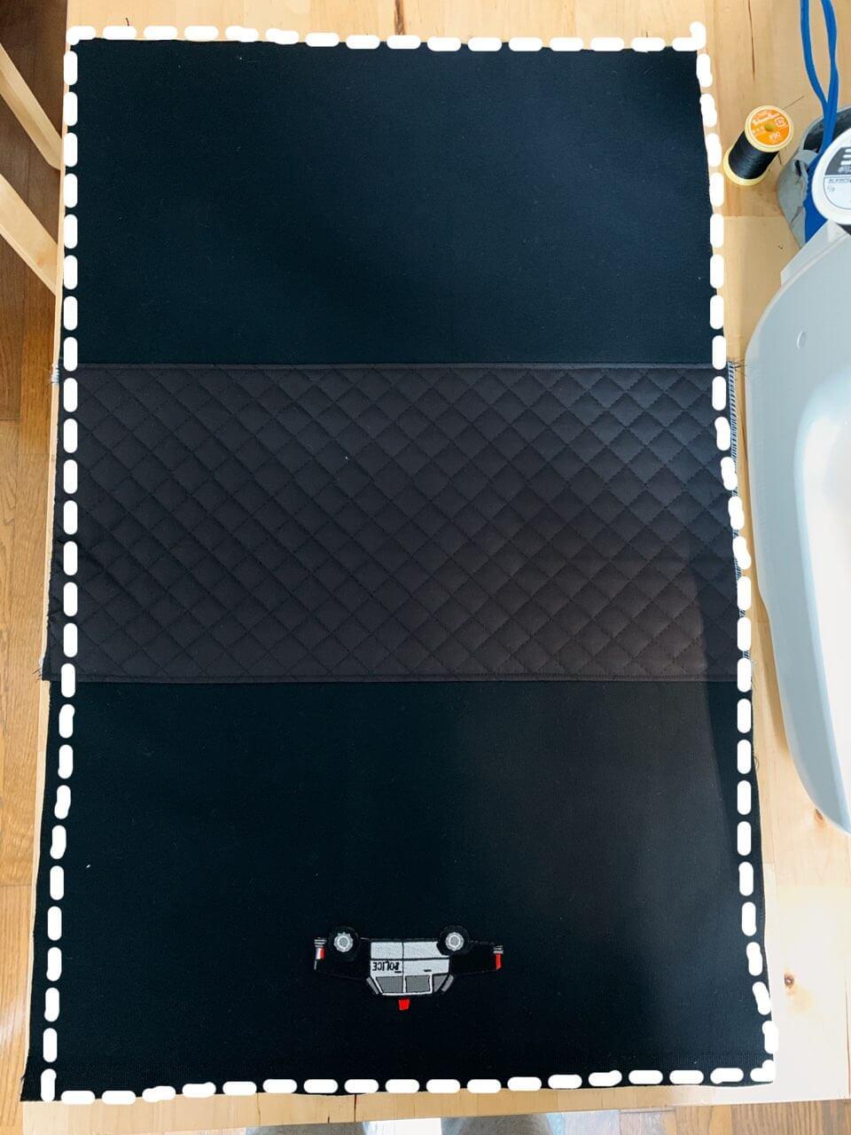 通園バッグの作り方③表地を作る-5