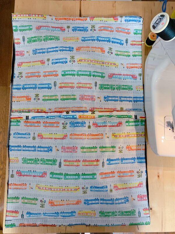 通園バッグの作り方⑥表地と裏地を縫い合わせる