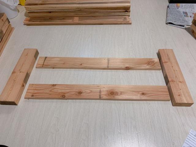 プレイテーブルDIY①木材(パレット)をカットする