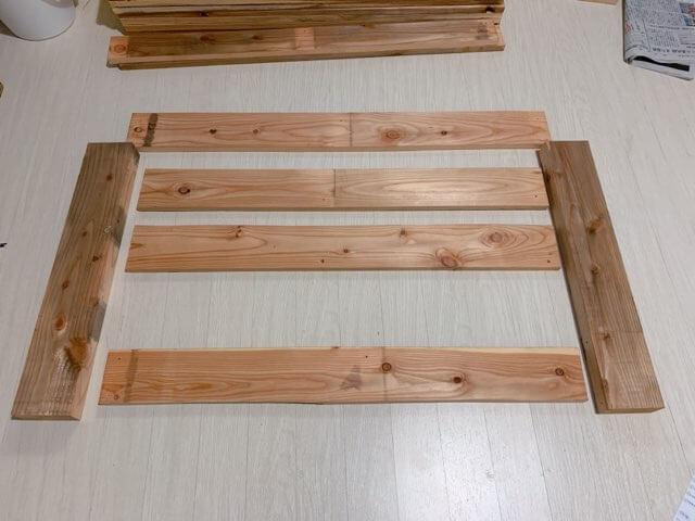 プレイテーブルDIY①木材(パレット)をカットする-5