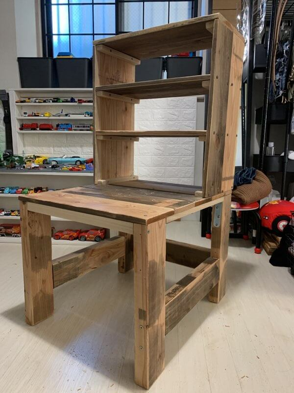キッズデスクの作り方③デスク棚を組み立てる-5