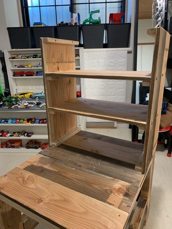 キッズデスクの作り方③デスク棚を組み立てる-4