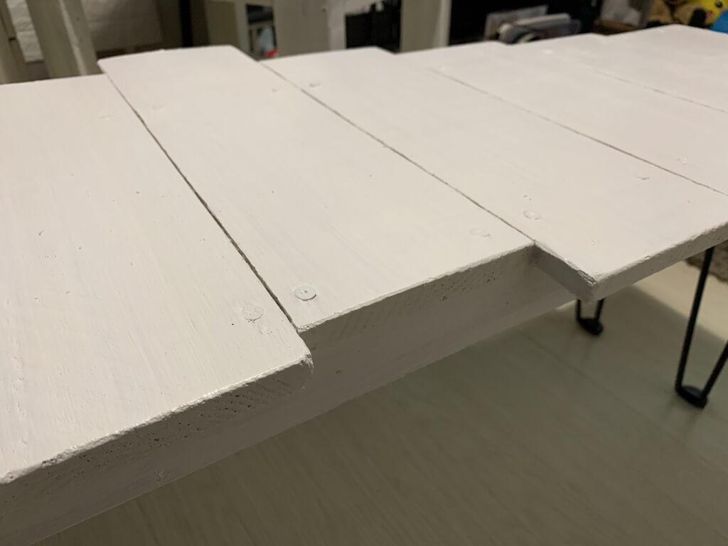 端材で作るテーブルの作り方③天板表面も塗装する-2