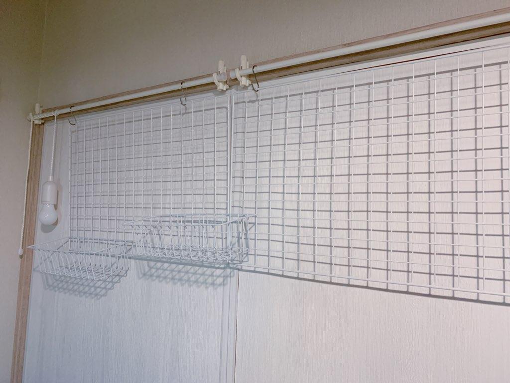 ワイヤーネットをプラスした壁面がおしゃれ♪-2