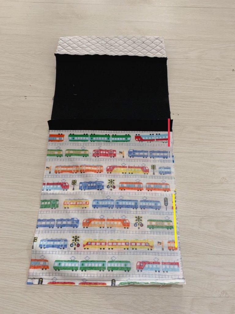 体操着袋の作り方③表布と裏布を縫い合わせる