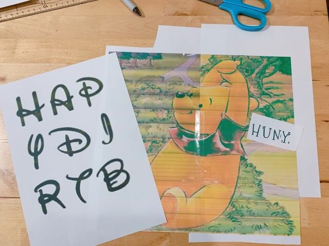 型紙になりそうなイラストを印刷しておく