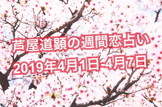 4月1日-4月7日の恋愛運【芦屋道顕の音魂占い★2019年】