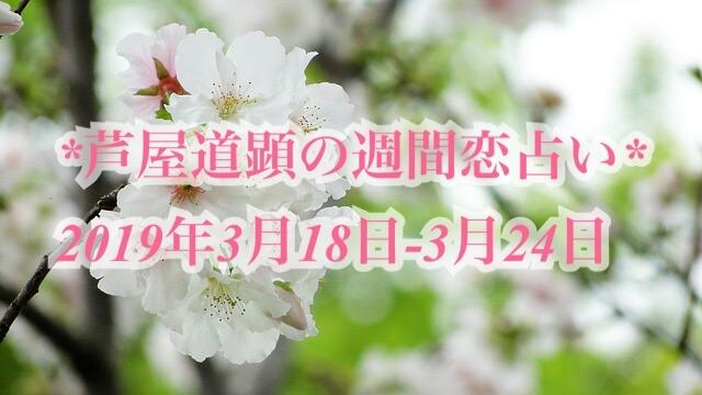 3月18日-3月24日の恋愛運【芦屋道顕の音魂占い★2019年】