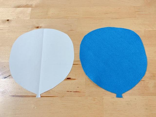 プーさんの壁飾り②風船の飾りを作る