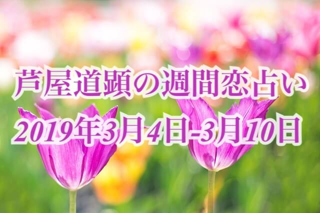 天変地異は恋にも!波乱期!3月4日-3月10日の恋愛運【芦屋道顕の音魂占い★2019年】