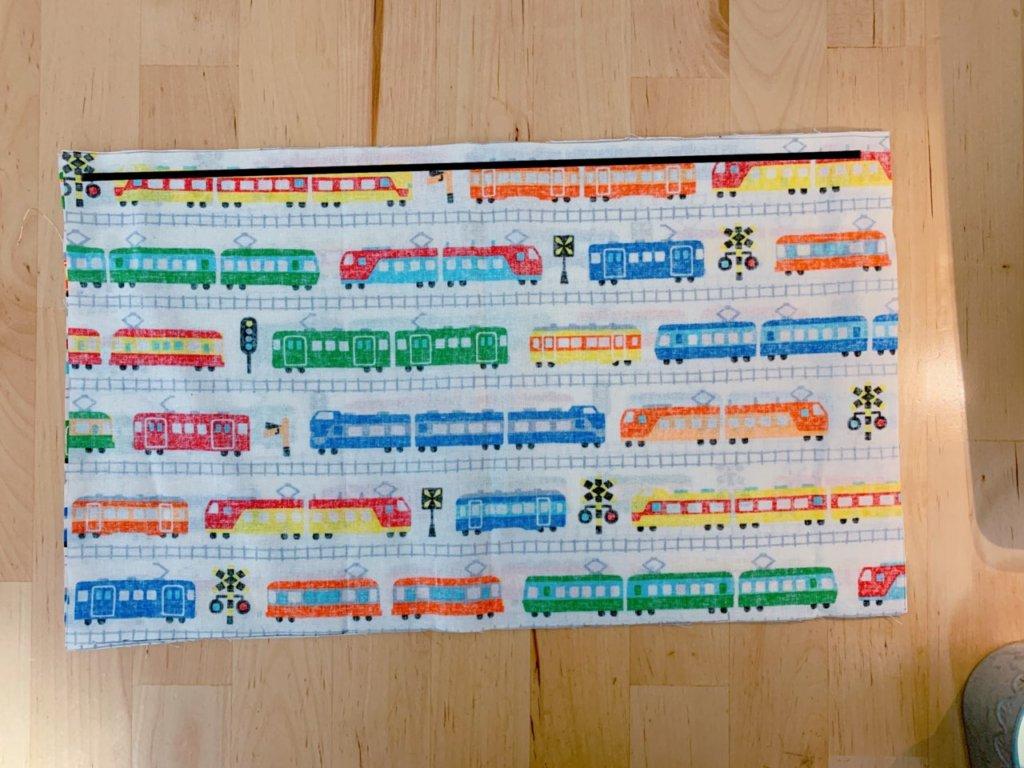 コップ袋の作り方①1枚の布で表布と裏布を作る-2