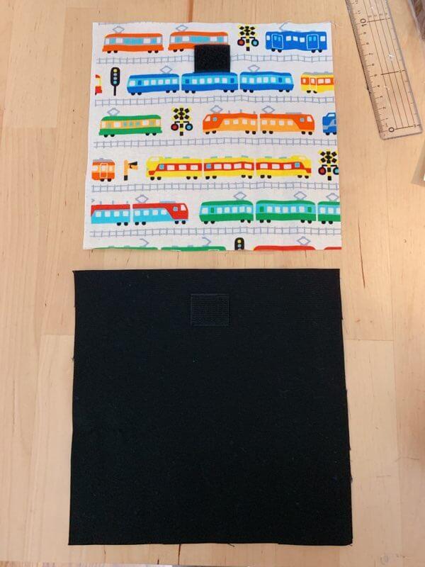 カトラリーケースの作り方②マジックテープと持ち手を縫い付ける