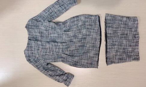 入園式用に購入したツイードワンピースをジャケットにリメイク!