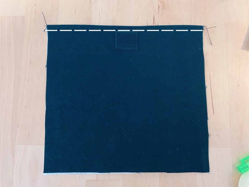 カトラリーケースの作り方③表布と裏布を縫い合わせる