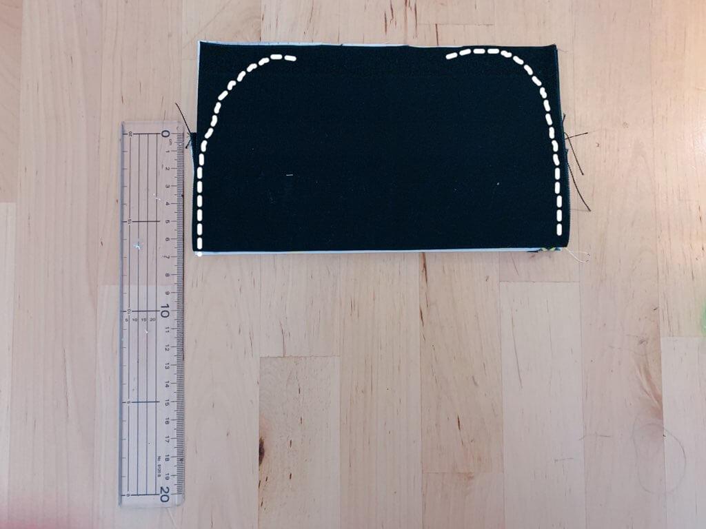カトラリーケースの作り方③表布と裏布を縫い合わせる-4