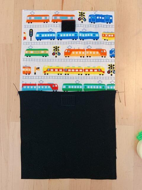 カトラリーケースの作り方③表布と裏布を縫い合わせる-2