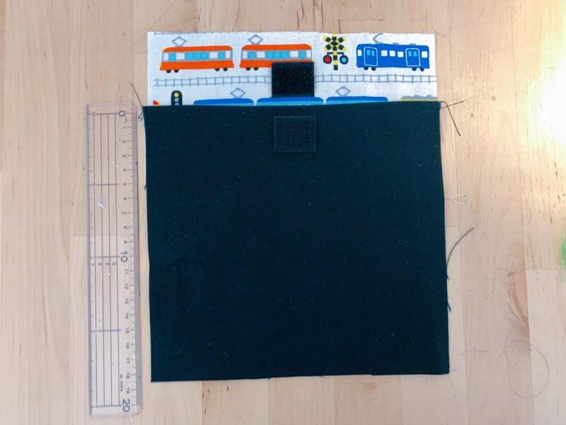 カトラリーケースの作り方③表布と裏布を縫い合わせる-3