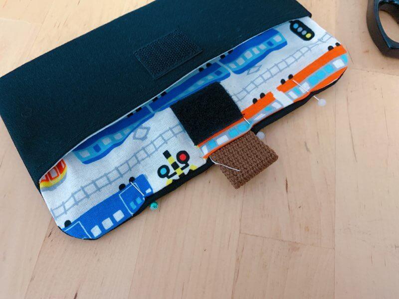 カトラリーケースの作り方③表布と裏布を縫い合わせる-5