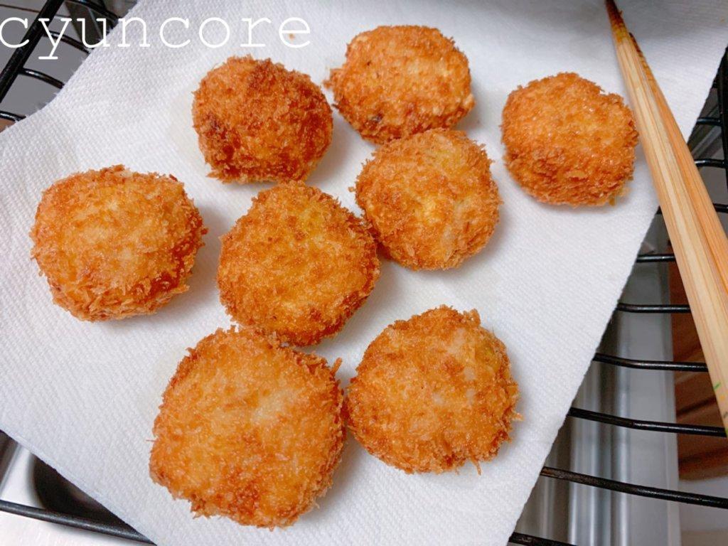 幼稚園の冷凍おかず①鶏ひき肉と豆腐のメンチカツ風-2