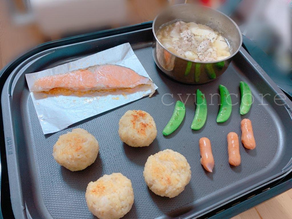 【キッズ包丁レシピ】4歳児が作る献立④ホットプレートで朝ごはん