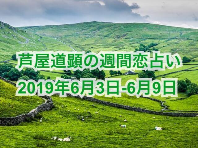 6月3日-6月9日の恋愛運【芦屋道顕の音魂占い★2019年】