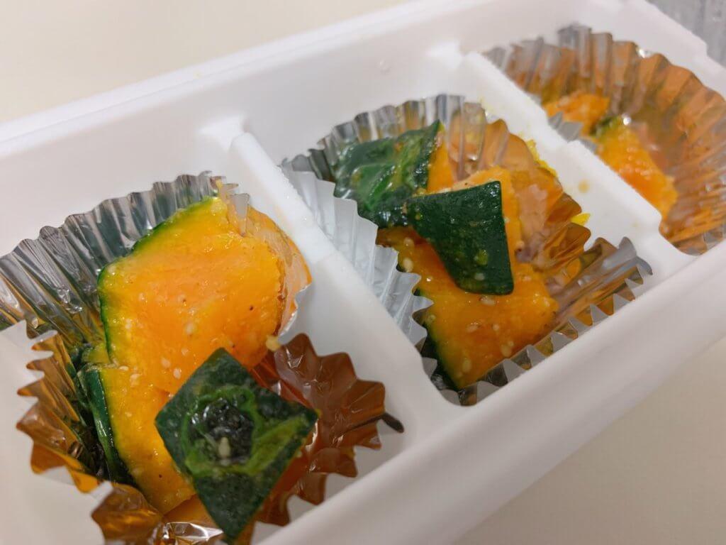 幼稚園の冷凍おかず③かぼちゃの塩マーガリン炒め