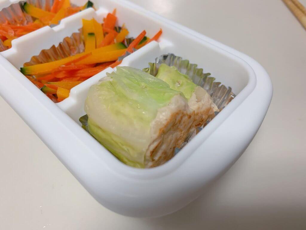 幼稚園の冷凍おかず⑤鶏ひき肉のロールキャベツ