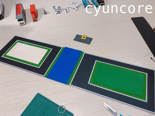 プラ板でトミカの道路を作る-3