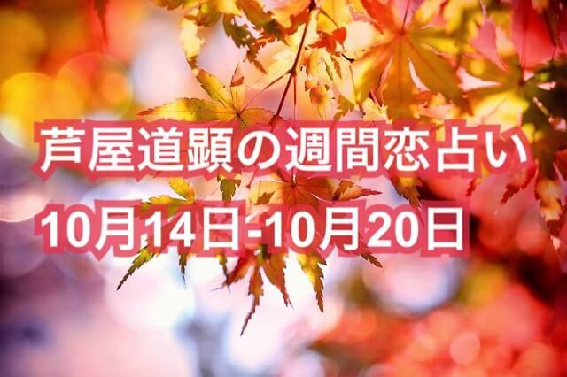 10月14日-10月20日の恋愛運【芦屋道顕の音魂占い★2019年】