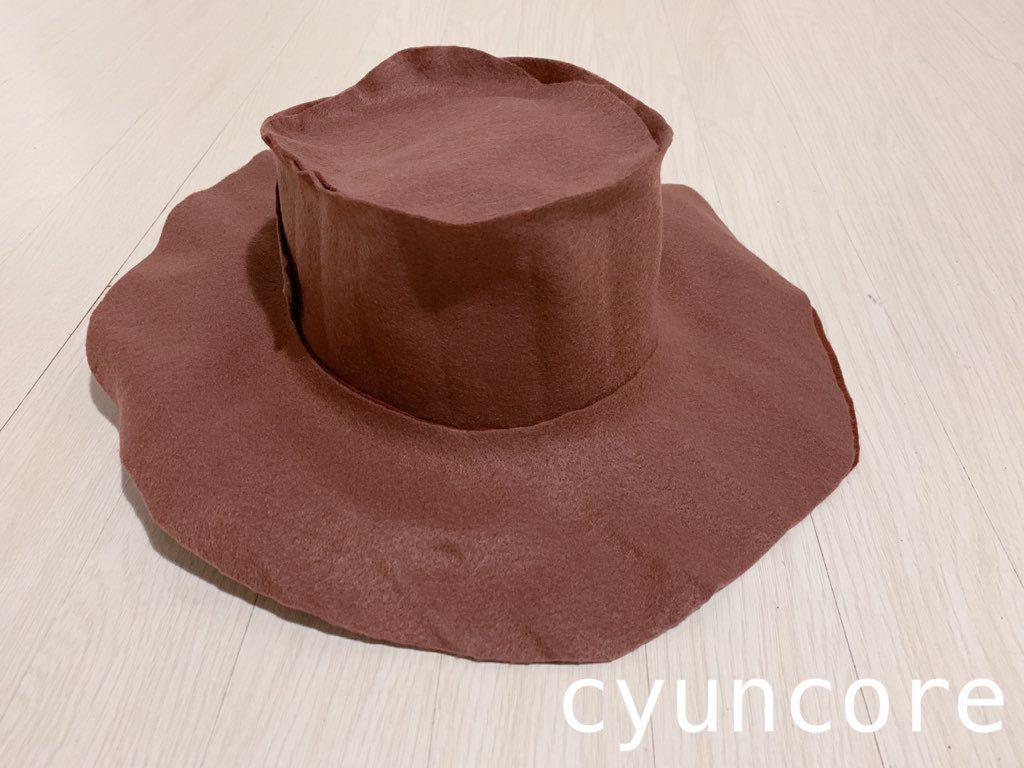 ウッディー帽子の作り方-6