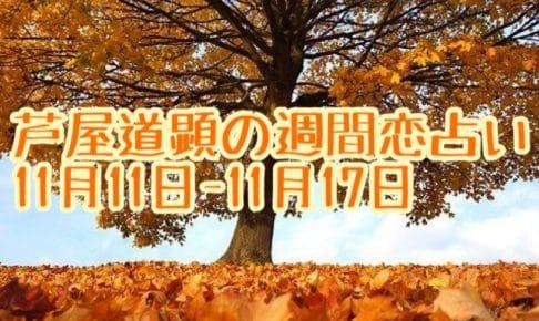 11月11日-11月17日の恋愛運【芦屋道顕の音魂占い★2019年】