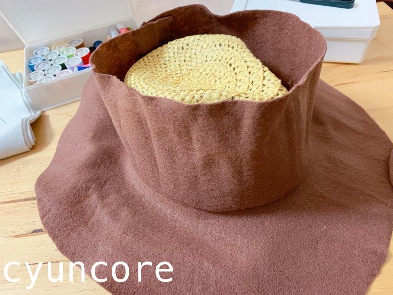 ウッディー帽子の作り方-7