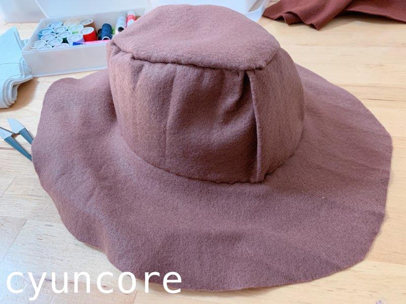 ウッディー帽子の作り方-8