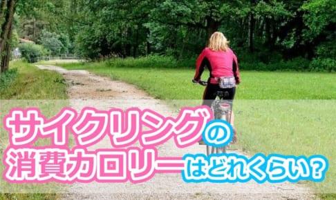 サイクリングの消費カロリーはどれくらい?ジョギングや水泳と比較!