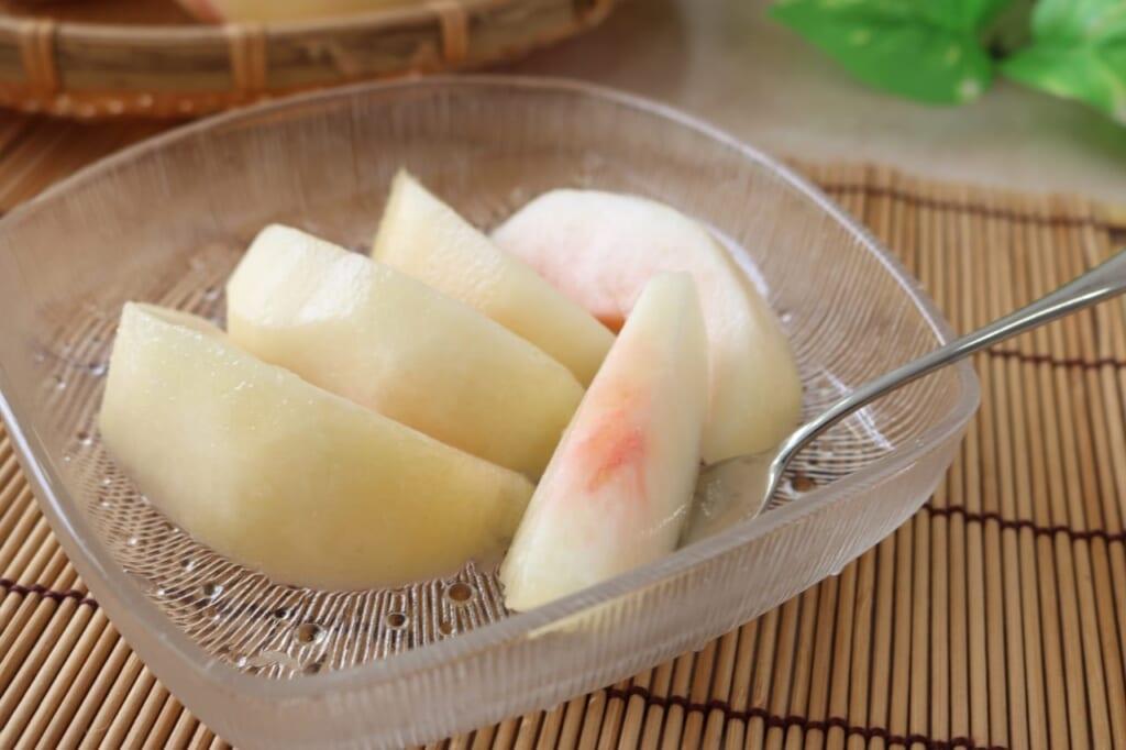 桃の栄養を効率的に摂取できる食べ方は?